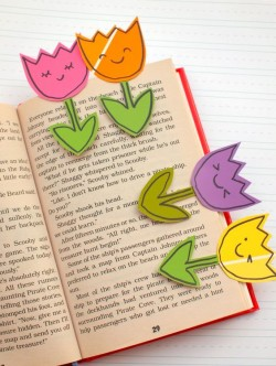 Crafternoons - Spring Flower Bookmark