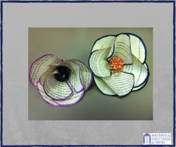 Maker Mondays: Recycled Book Flowers