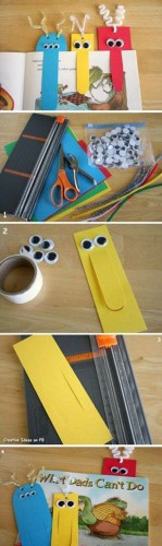 Crafternoons - Make a Funny Face Bookmark!