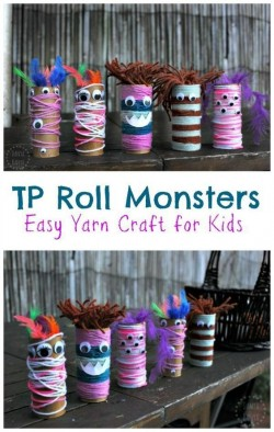 Crafternoons - Paper Roll Monsters!