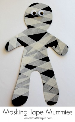 Crafternoons - Masking Tape Mummies!!