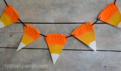 Crafternoons - Paper Plate Candy Corn Banners & Treat Baskets!